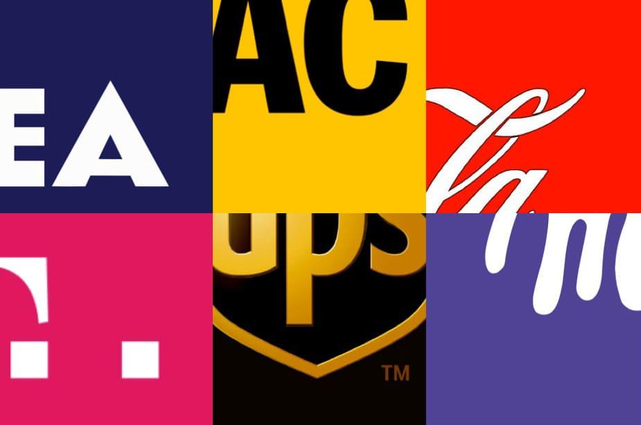 Marken mit starker Farbcodierung sind auf den ersten Blick erkennbar