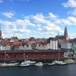 Aus dem Charles & Ray Eames Room über die Dächer der Lübecker Altstadt
