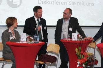 foodRegio Marketingtag 2014 – Diskussionsrunde mit Rademacher, Brueggen, Kirschmeier.